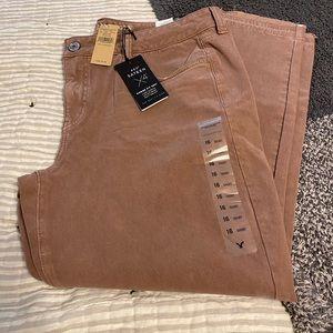 AE Sateen pants sz 16 NWT